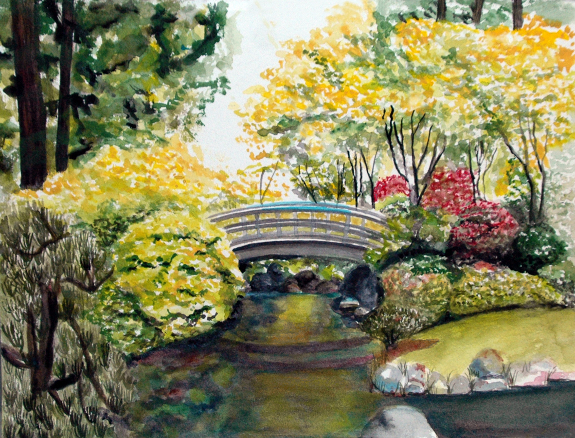 Magdalene chan sold paintings for Japanese watercolor paintings